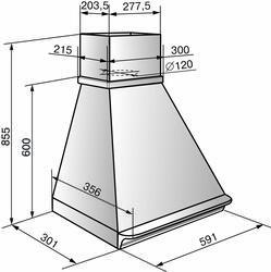 Вытяжка каминная Elikor Багет 60П-430-П3Г бежевый