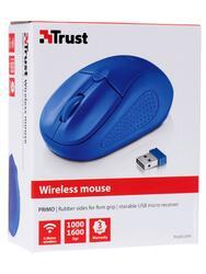 Мышь беспроводная Trust Primo Wireless синий