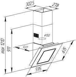 Вытяжка каминная Pyramida BT 60 BLACK SU/U черный