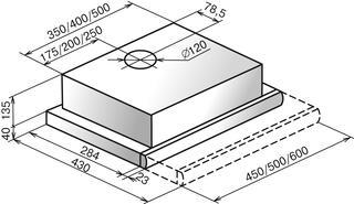 Вытяжка встраиваемая Elikor Интегра GLASS 50Н-400-В2Г белый, серебристый