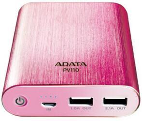Портативный аккумулятор ADATA Power Bank PV110 розовый