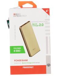 Портативный аккумулятор InterStep PB8000QCW золотистый