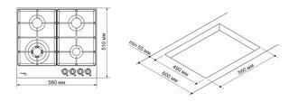 Газовая варочная поверхность Pyramida PFE 642 IVORY RUSTICO