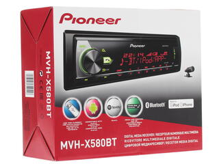 Автопроигрыватель Pioneer MVH-X580BT