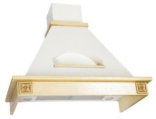 Вытяжка каминная Elikor Бельведер Флореале 90П-650-П3Г белый