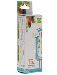 Лампа светодиодная ASD LED-JC-standard 1.5Вт 12В G4 4000К 135Лм