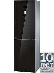Холодильник с морозильником BOSCH KGN39SB10R черный