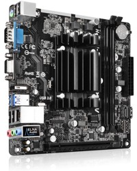 Плата ASRock QC5000M-ITX/PH (CPU A4-5000 + HD 8330) 2xDDR3 PCI-Ex16 HDMI/DSub 8ch 2xSATA3 2xUSB3 GLAN COM mini-ITX