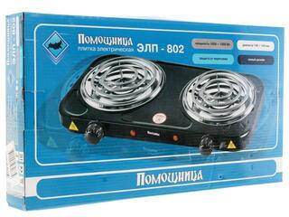 Плитка электрическая Помощница ЭЛП-802 черный