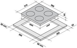 Электрическая варочная поверхность Fornelli PV 60 DOLCE WH