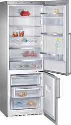Холодильник с морозильником Siemens KG49NAI22 серебристый
