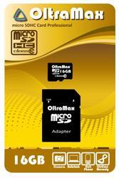 Карта памяти OltraMax OM016GCSDHC10 microSDHC 16 Гб