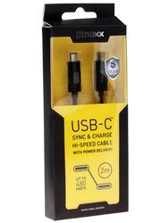 Кабель NEXX  USB-C - USB-C черный
