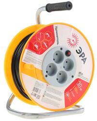 Удлинитель силовой Эра RP-4-2x1-30m желтый, черный