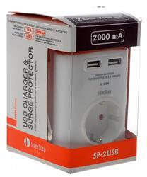 Сетевой фильтр InterStep SP-2USB белый