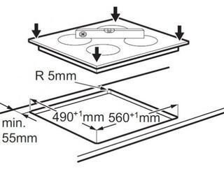 Электрическая варочная поверхность Electrolux EHF56240XK