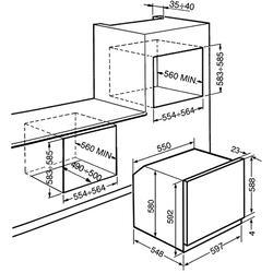 Электрический духовой шкаф Smeg SF6381X