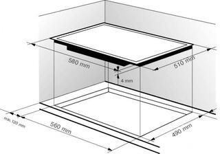 Электрическая варочная поверхность Zigmund & Shtain CIS 444.60 BK