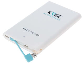 Портативный аккумулятор KREZ LP500221AW белый