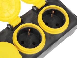 Удлинитель силовой ЭРА U-3es-10m-IP44 желтый, черный