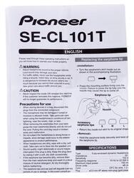 Наушники Pioneer SE-CL101T-K