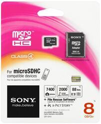 Карта памяти Sony microSDHC 8 Гб