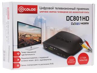 Приставка для цифрового ТВ D-Color DC801HD