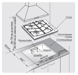 Газовая варочная поверхность Gefest СН 1211 К8
