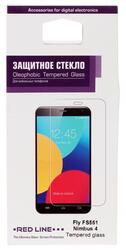 """5.5"""" Защитное стекло для смартфона Fly FS551 Nimbus 4"""