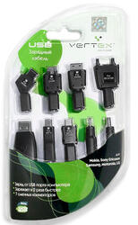 Сетевое + автомобильное зарядное устройство VERTEX 48966