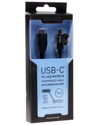 Кабель NEXX  USB-C - USB micro-B черный