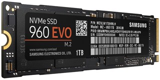 1024 ГБ SSD M.2 накопитель Samsung 960 EVO [MZ-V6E1T0BW]
