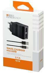 Сетевое зарядное устройство InterStep IS-TC-MICRO2KRT-000B201