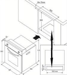 Газовый духовой шкаф Avex SW 6010