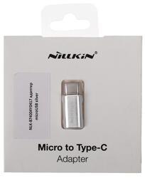 Переходник Nillkin NLK-874004Y0417 micro USB - USB-C серебристый