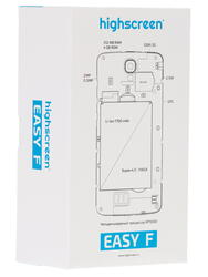 "4.5"" Смартфон Highscreen Easy F 4 ГБ черный"