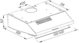 Вытяжка подвесная Pyramida MH 20-60 INOX серебристый