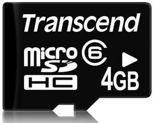 Карта памяти Transcend TS4GUSDHC6-2 microSDHC 4 Гб