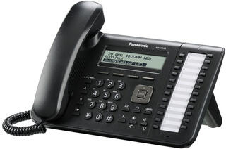 IP-телефон PANASONIC KX-UT133RU-B черный