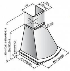 Вытяжка каминная Elikor Ротонда 60П-650-П3Л бежевый