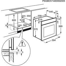 Электрический духовой шкаф Electrolux EZB52410AW