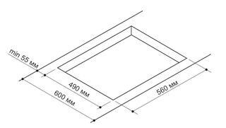 Газовая варочная поверхность Pyramida PFG 647 WHITE LUXE