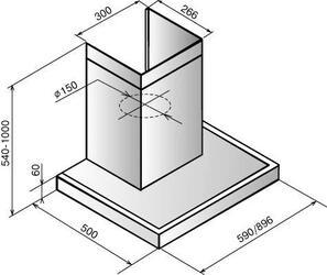 Вытяжка каминная Elikor Опал 60Н-650-Э3Г серебристый