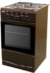 Электрическая плита TERRA ЭБЧШ 5-4-5.5/7-220 00 коричневый