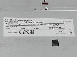 Электрическая варочная поверхность Bosch PIA611F18E