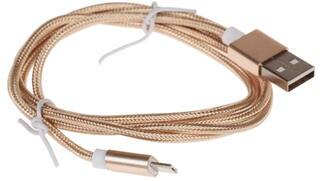 Кабель Solomon micro USB - USB золотистый
