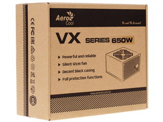 Блок питания Aerocool VX 650W [VX-650]