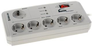 Сетевой фильтр Defender DFS 805 белый