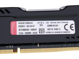 Оперативная память Kingston HyperX FURY [HX424C15FBK2/32] 32 Гб