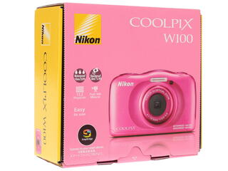 Компактная камера Nikon Coolpix W100 розовый